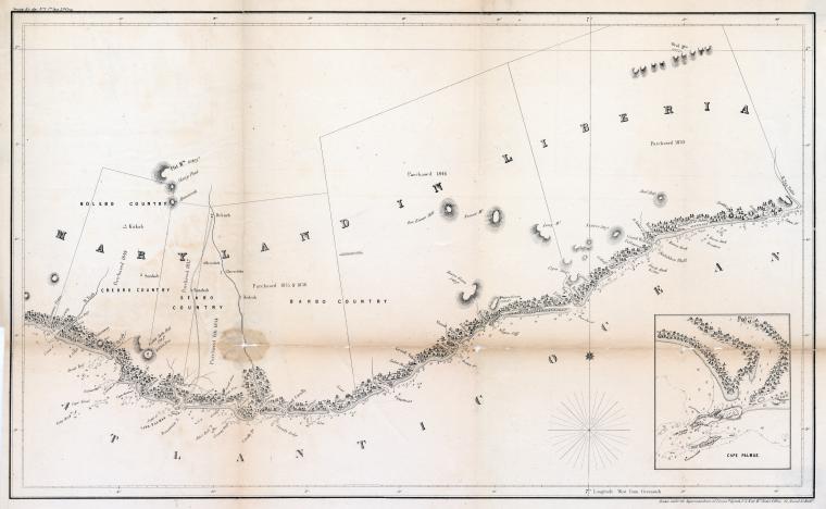 Maryland in Liberia, 1853. Courtesy New York Public Library, 1261070.